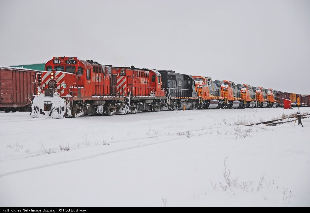 ~ Trains ~  CFMG 1814 CFMG MLW RS-18 at Mont Joli, Quebec, Canada by Rod Bushway