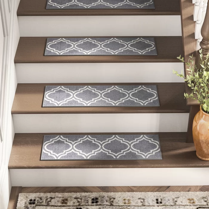 Best Alcott Hill Arette Gray Stair Tread Reviews Wayfair 400 x 300
