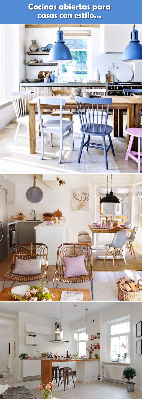 Cocinas abiertas para casas con estilo spaces cozinhas for Cocinas y salas integradas modernas