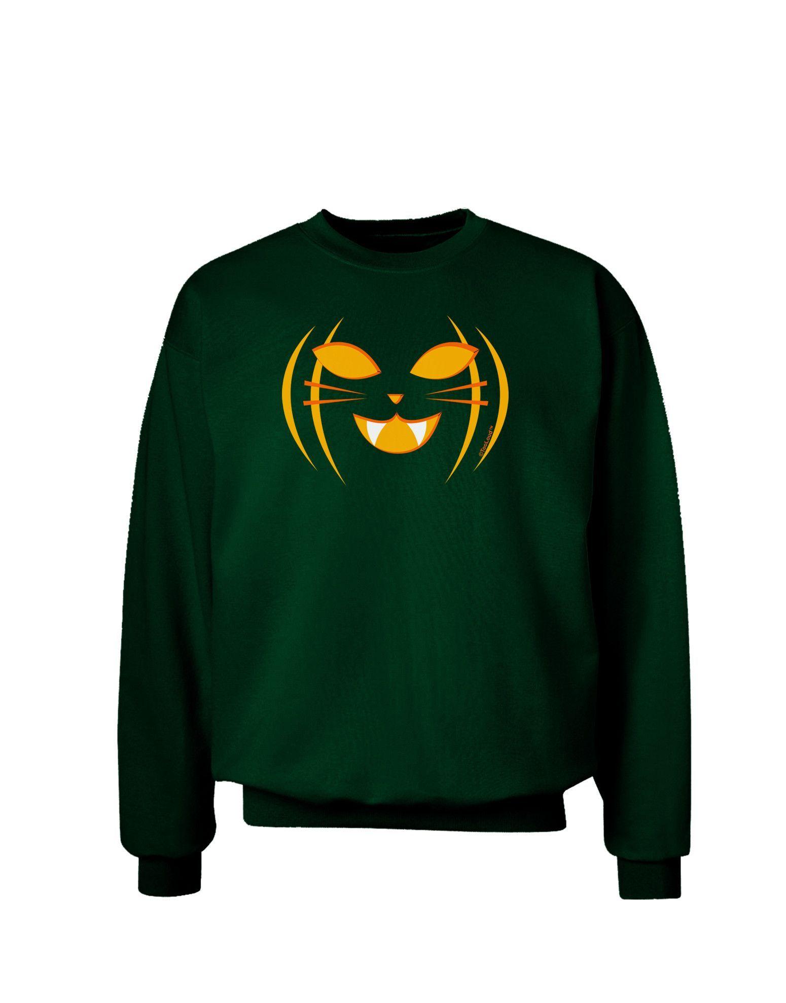 Cat-O-Lantern Adult Dark Sweatshirt