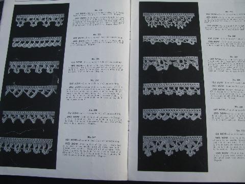 Lot Antique Needlework Booklets Vintage Crochet Lace Edging