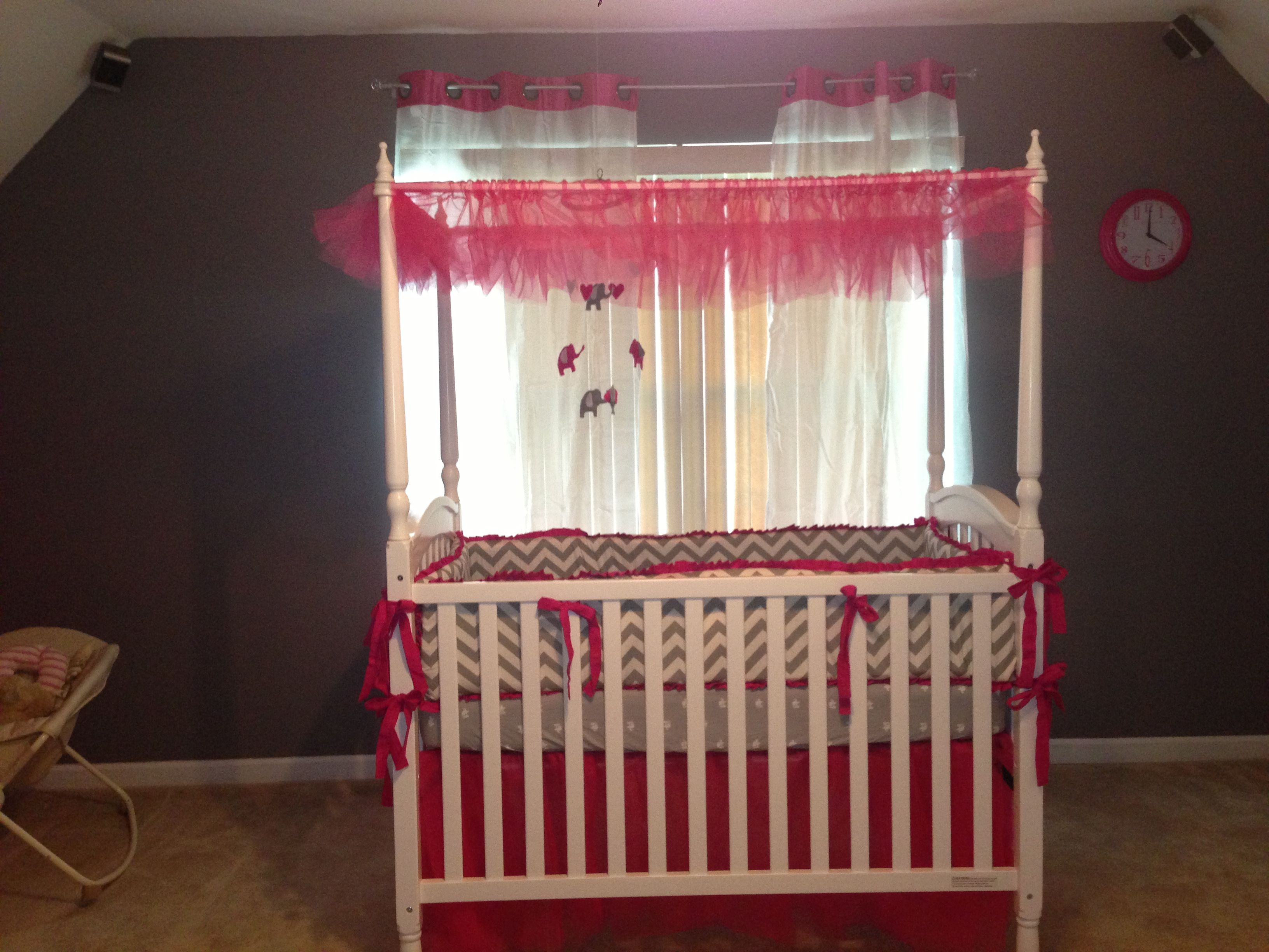 Love the tutu look around the top of the crib