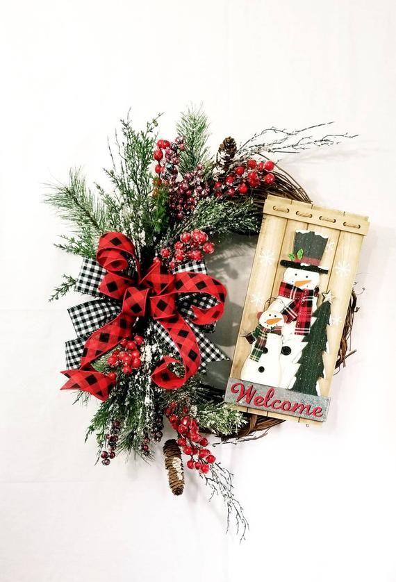 Photo of Winter Wreath, Christmas Decor, Holiday Decor