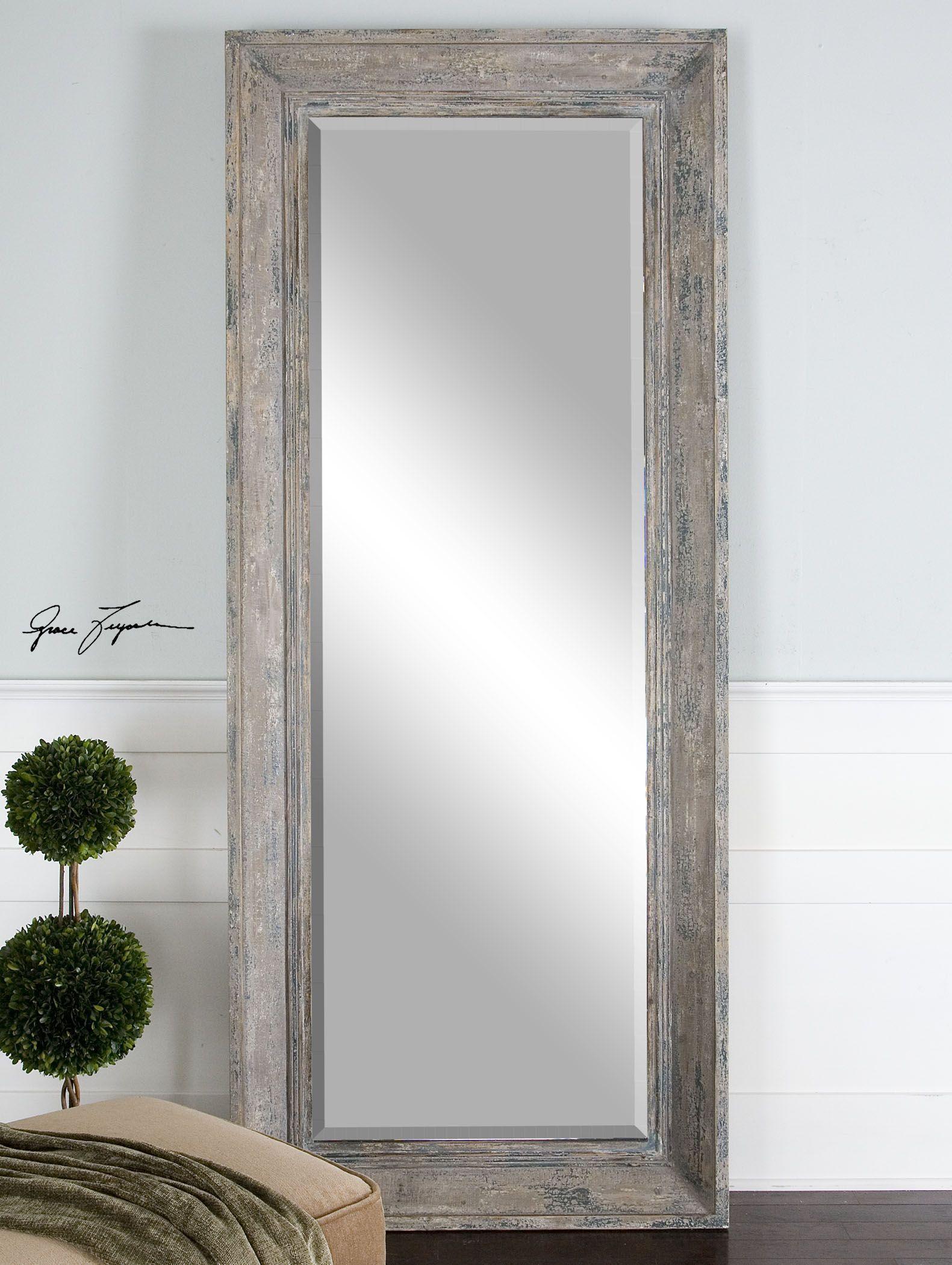 Missoula Distressed Leaner Mirror In 2019 Floor Mirror