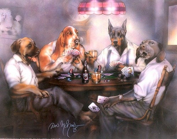 Country Decor Vintage New Auction Dogs Playing Poker Dog Paintings Dog Poster
