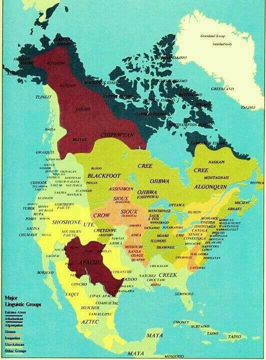 Landkarte Usa Amerikanische Indianer Geschichtsbuch