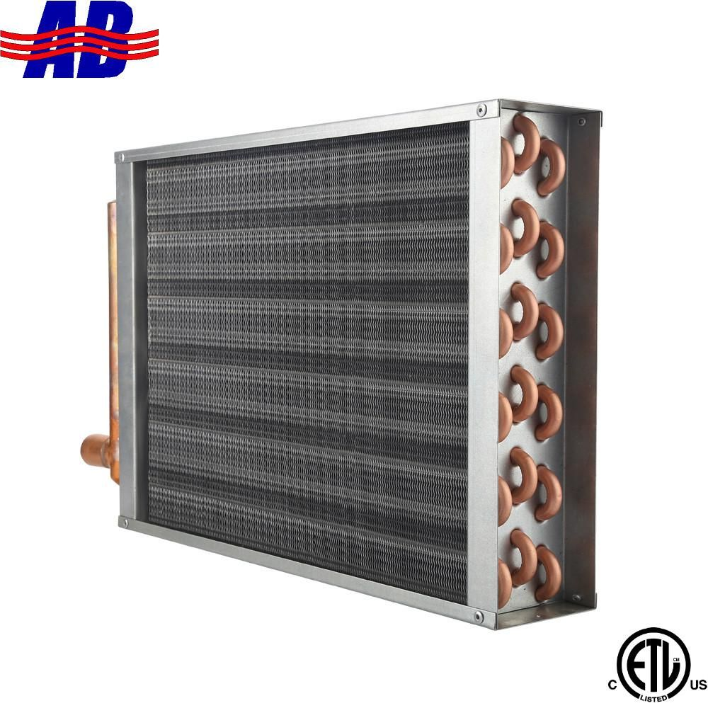"Air to Water Heat Exchanger 12x12 1"" Copper Ports Water"