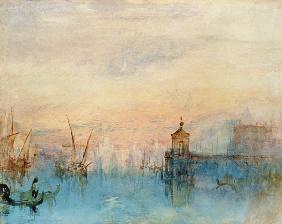 William Turner Venise Avec La Premiere Croissant De Lune