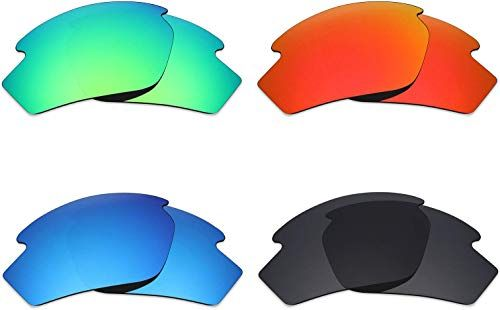 Stealth Black//Fire Red//Ice Blue//Emerald Green Mryok 4 Pair Polarized Replacement Lenses for Von Zipper Elmore Sunglass