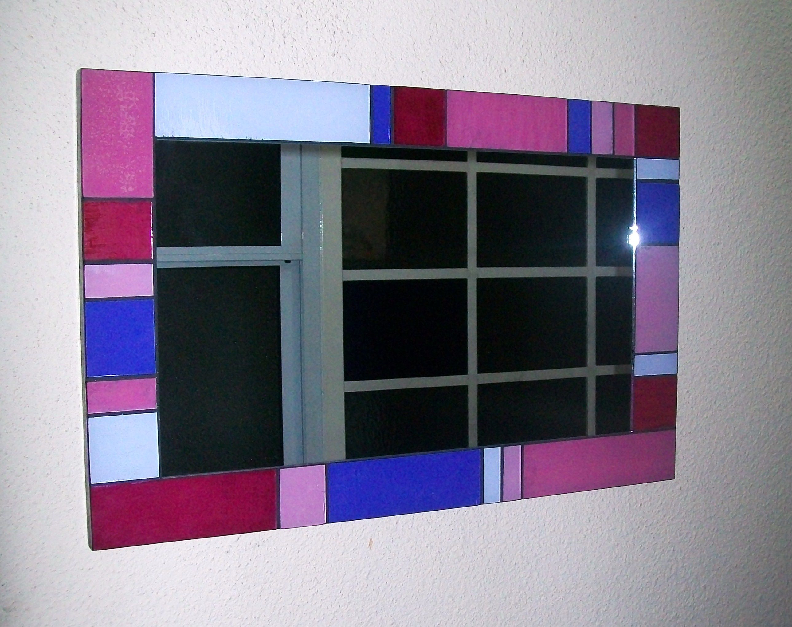Espejo artesanal con marco de vidrio   espejos   Pinterest   Espejo ...