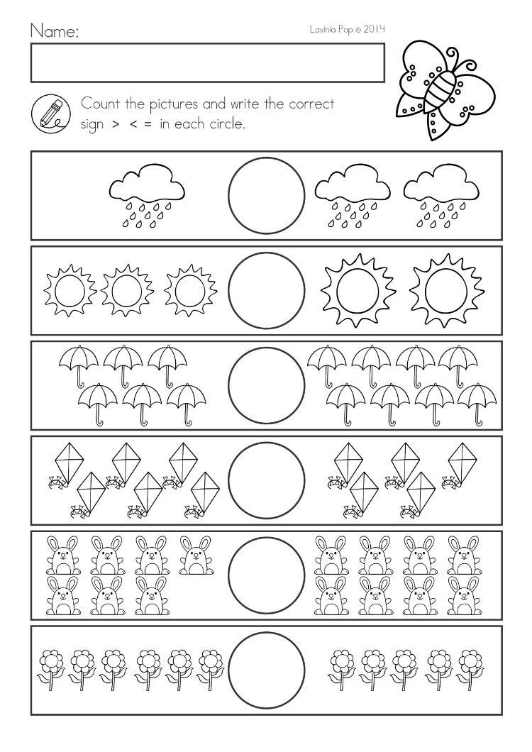 Spring Kindergarten Math And Literacy Worksheets Activities