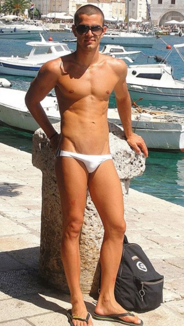 Tiny White Swimwear Model Boys Swimwear Swimsuits Sexy Men
