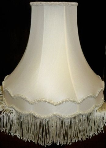 Gallery Bell Fringe Victorian Lamp Shade Cream White 14