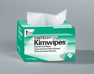 Kimwipes™ Delicate Task Wipers. Ideal for cleaning and polishing.