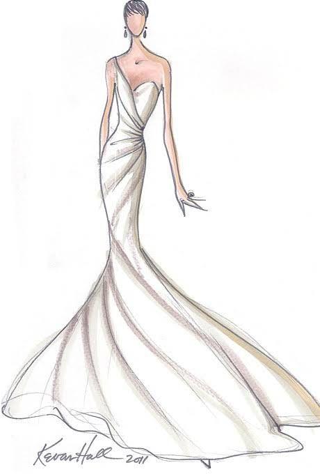 Designer Fantasy Sketches: Kim Kardashian\'s Wedding Gown | Sketches ...