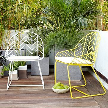 Bend Dining Chair #WestElm How FANTASTIC are these yellow chairs ...