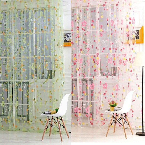 Various Designs Sheer Curtain Living Room Panelling Curtains