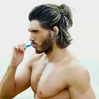 Mens Ponytail Hairstyle Long Hair Styles Men Medium Length Hair Men Medium Hair Styles