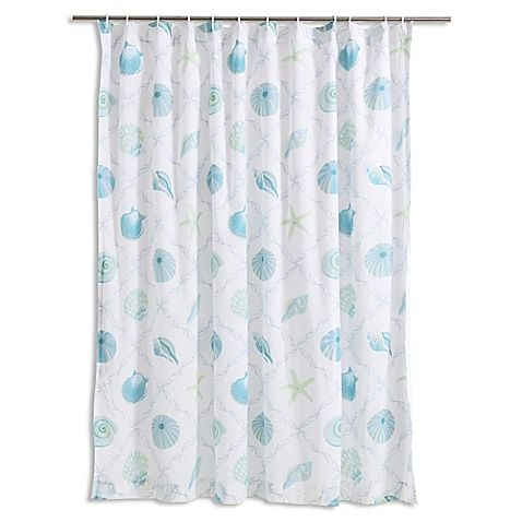 Levtex Home Seaglass Shower Curtain In Blue Taupe