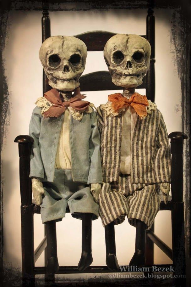 Skeleton dolls by William Bezek