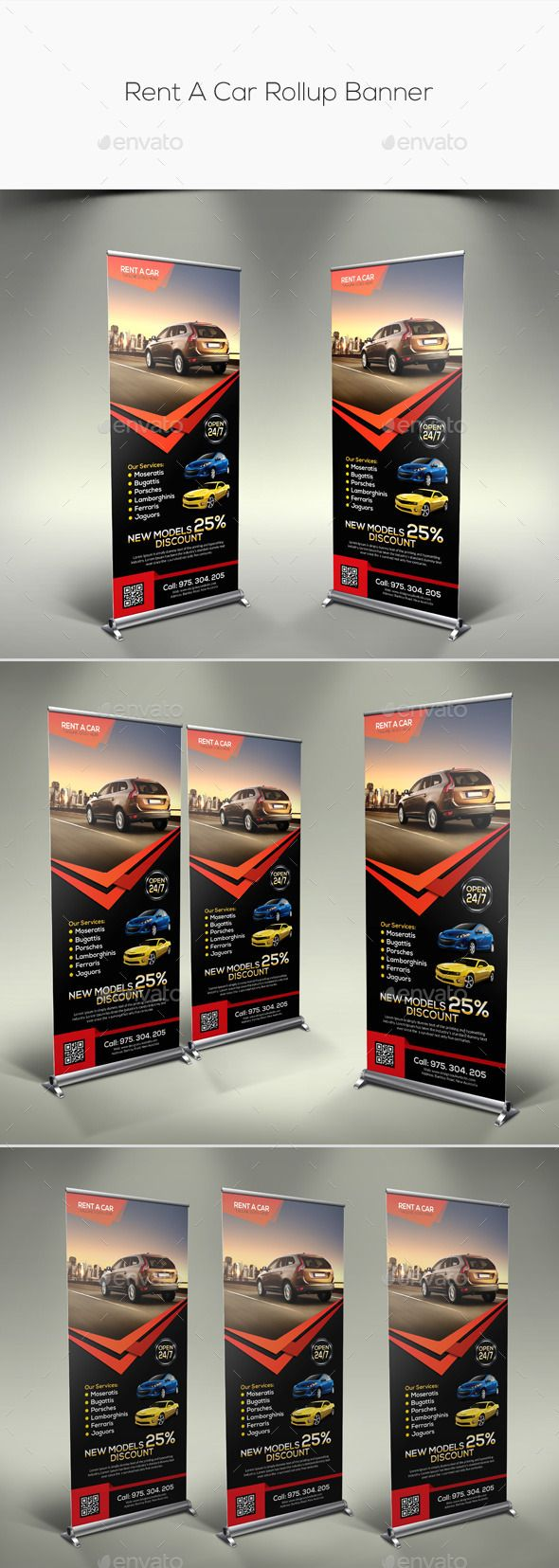 Fully Layered Adobe Photoshop Cs5 1 Layout Designs Cmyk Color Mode 300 Dpi Resolution Size 30 X70 Rollup Banner Rent A Car Banner