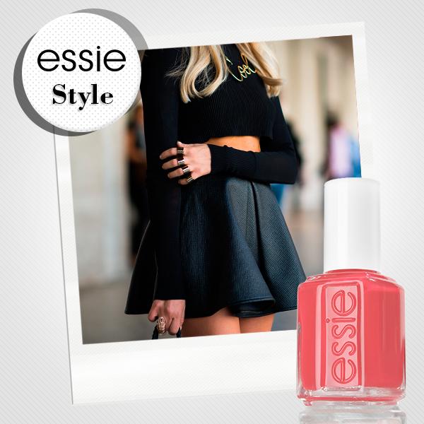 Para tu #essieStyle monocromático utiliza el tono carousel coral, hará que tus uñas contrasten y le dará más vida a tu look.