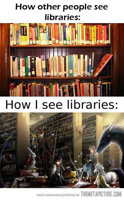 how i see libraries i 39 m a geek pinterest ich werde mein haus und bibliothek. Black Bedroom Furniture Sets. Home Design Ideas