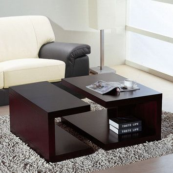 Beverly Hills Furniture Jengo Coffee Table  Bar  Pinterest Delectable Modern Center Table Designs For Living Room Inspiration