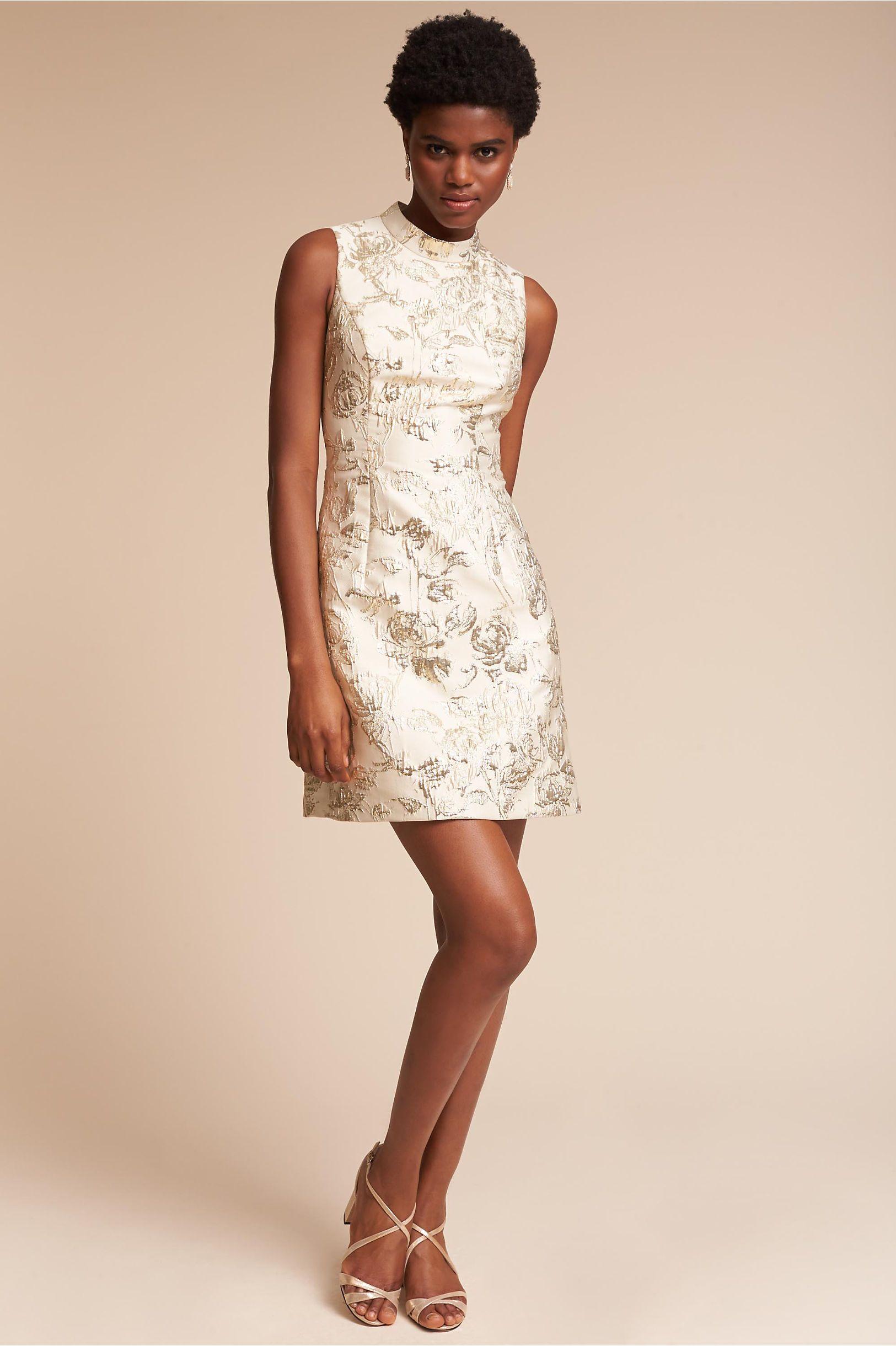 Sheath dresses for wedding guest  BHLDNus Aidan Mattox Reine Dress in Champagne  Aidan mattox and