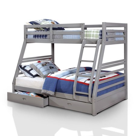 Furniture of America Dawson Twin Gray Bunk Bed with