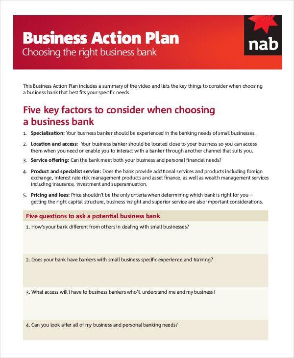Action Plan Templates 25+ Free Printable Word, Excel  PDF