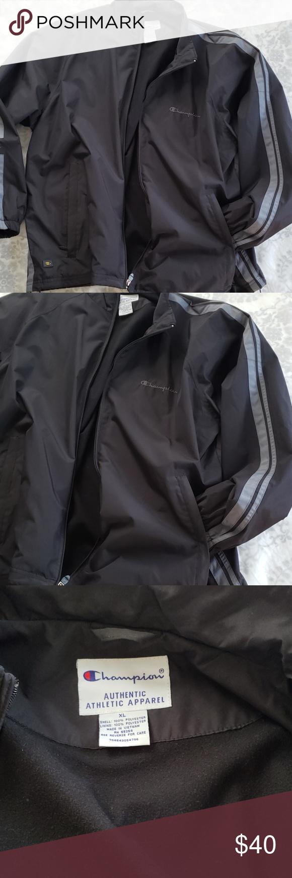 Champion Mens Jacket Size Xl Champion Jacket Mens Jackets Men [ 1740 x 580 Pixel ]