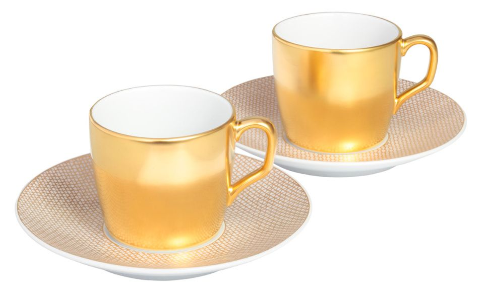 "Espresso-Set, Form ""MEISSEN® COSMOPOLITAN"", Gold"