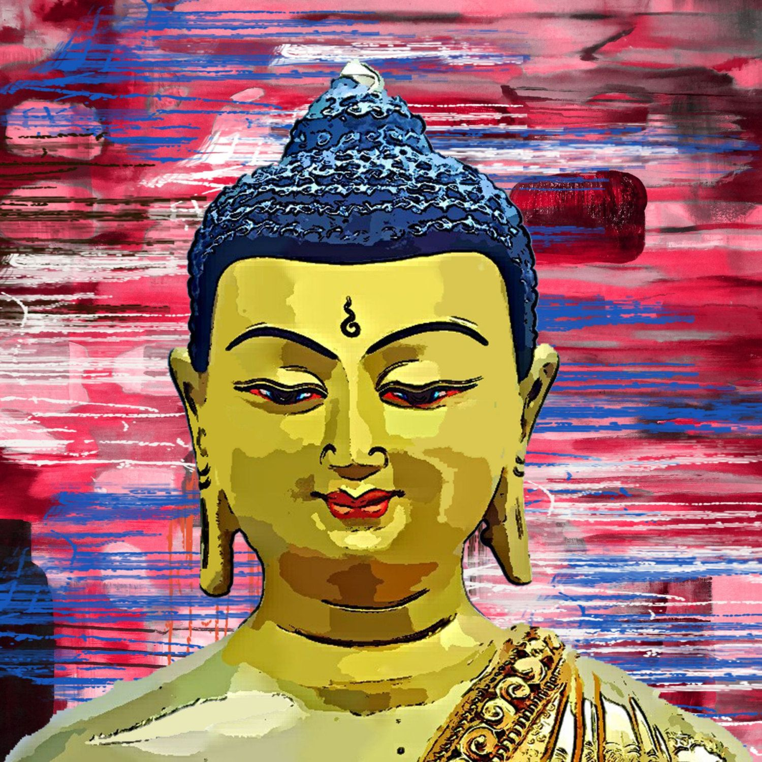 Buddha Handmade Oil Painting on Canvas, 32\