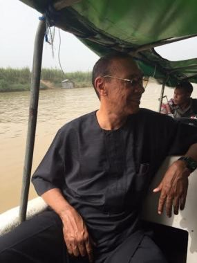 Mabel Naija's Blog (MNB)                                                      : NEWS: Ben Murray-Bruce Rides in a Small Boat to ge...
