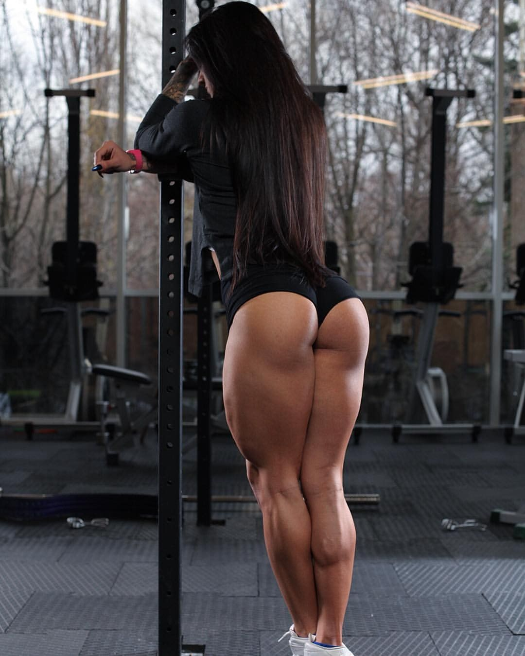 Image Ass Buttocks Fitness Female Barbell