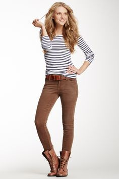 Brown Skinny Jeans. | Fashion, Casual winter outfits, Skinny