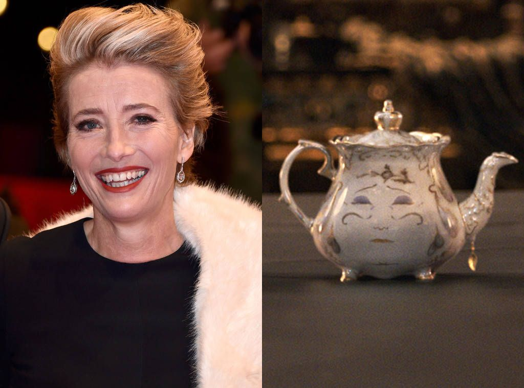 Emma Thompson As Mrs Potts From What The Beauty And The Beast Characters Look Like In Real Life Beauty And The Beast Beast Emma Thompson