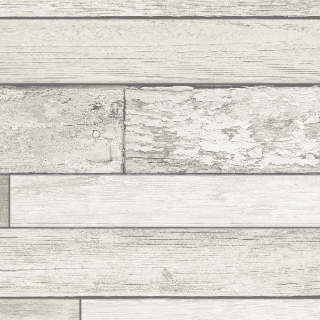 Realistic reclaimed wood effect wallpaper which will
