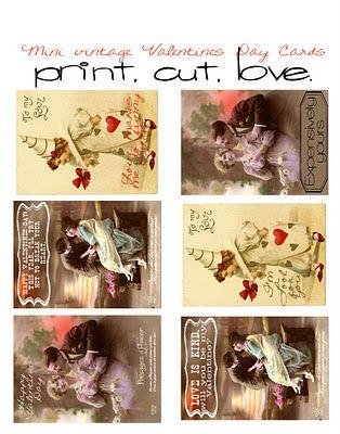 75 Valentines Day Free Printables  Free printables Vintage