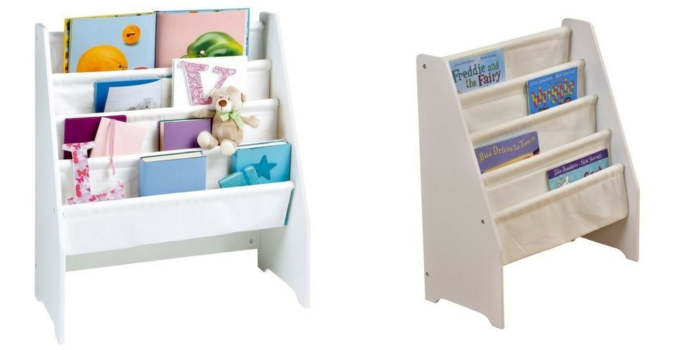 White Wooden Kids Bookcase Children Book Storage Display Kids Organiser Unit