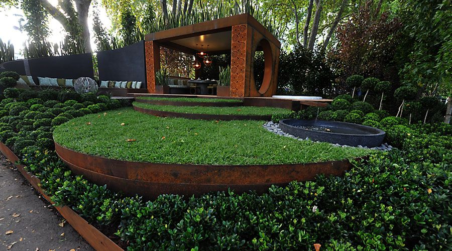 Corten 0001 corten weathered steel rings and curved for Alternative garden edging