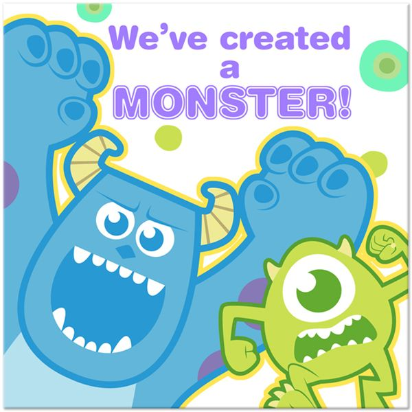 Pokemon Coordinating Lunch Plate Set (24) at Birthday Direct. Monsters Inc ...  sc 1 st  Pinterest & Monsters Inc 1st Birthday Lunch Napkins (16) | Monsteru0027s Inc ...