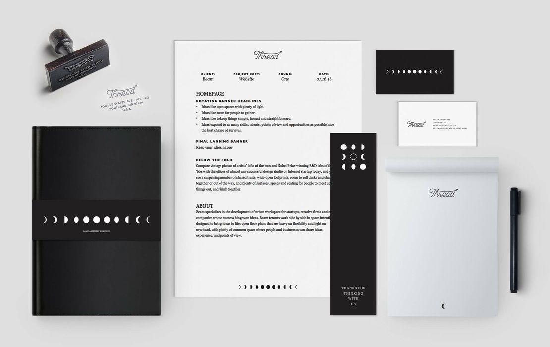 db1ebc38b Thread - Factory North #factorynorth #graphic #design #brand #identity # branding #business #system #thread #creative #portland #oregon #se