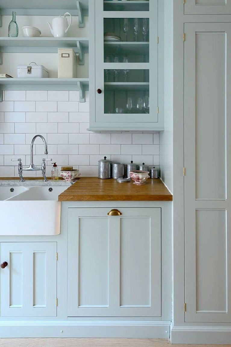 36 Best Beautiful Blue And White Kitchens To Love Hello Lovely In 2020 Blue Kitchen Cabinets Shabby Chic Kitchen Blue Kitchens