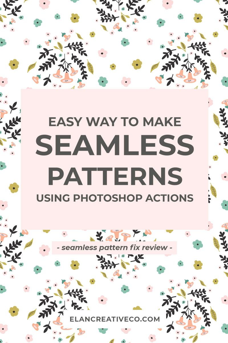 Learn how to create seamless patterns in only a few minutes using the Seamless Pattern Fix Photoshop actions. This will help you speed up your workflow and improve your designs. #graphicdesign #patterndesign