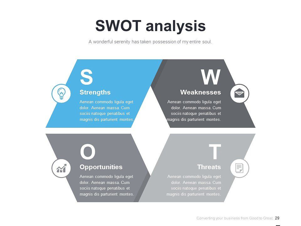 (PPT, AI) Infographic Diagram 028 Swot analysis template