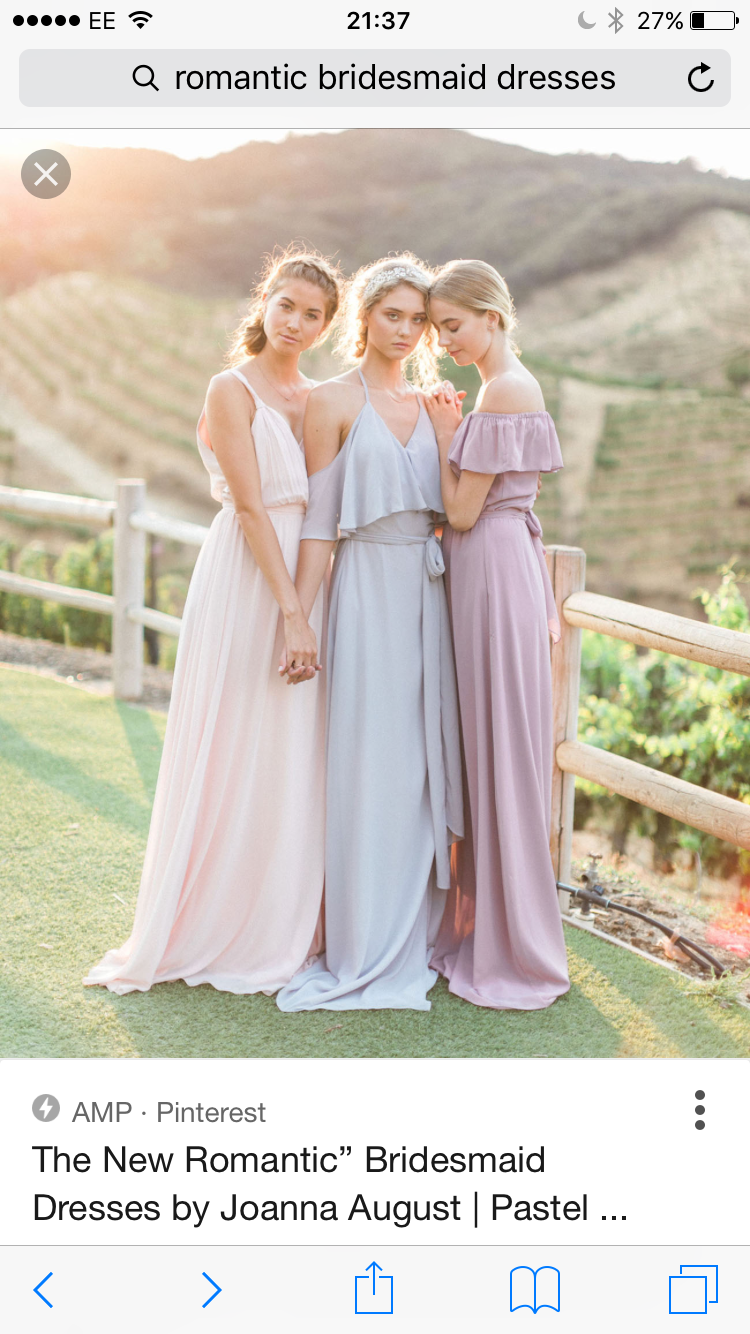 Beachy bridesmaids dresses with