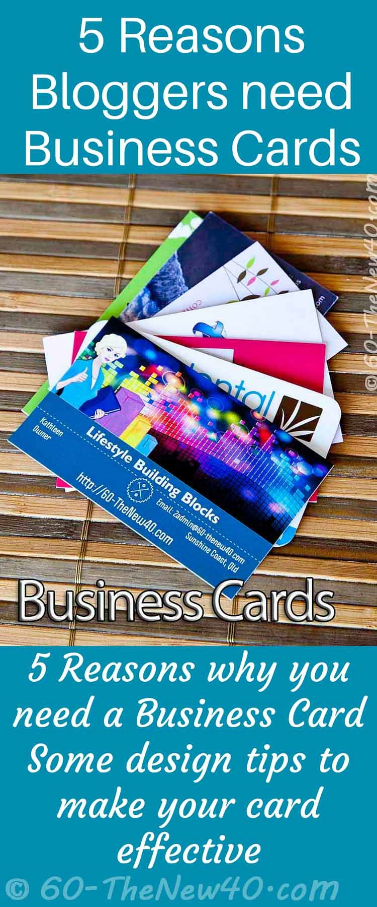 5 Reasons Bloggers need Business Cards. 5 Reasons why you need a ...