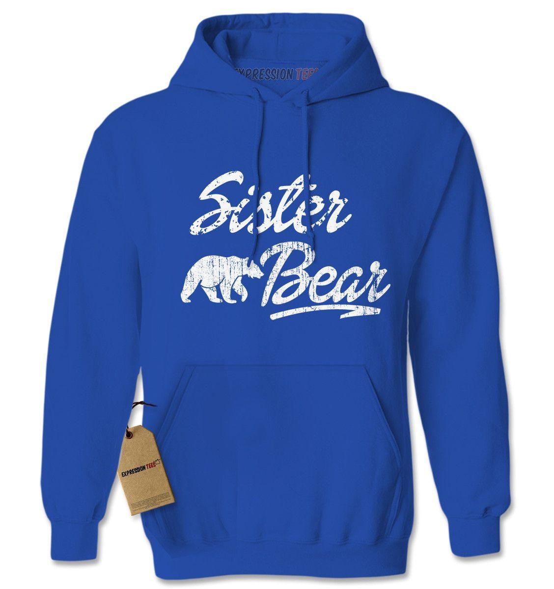 Sister Bear Cub Family Adult Hoodie Sweatshirt